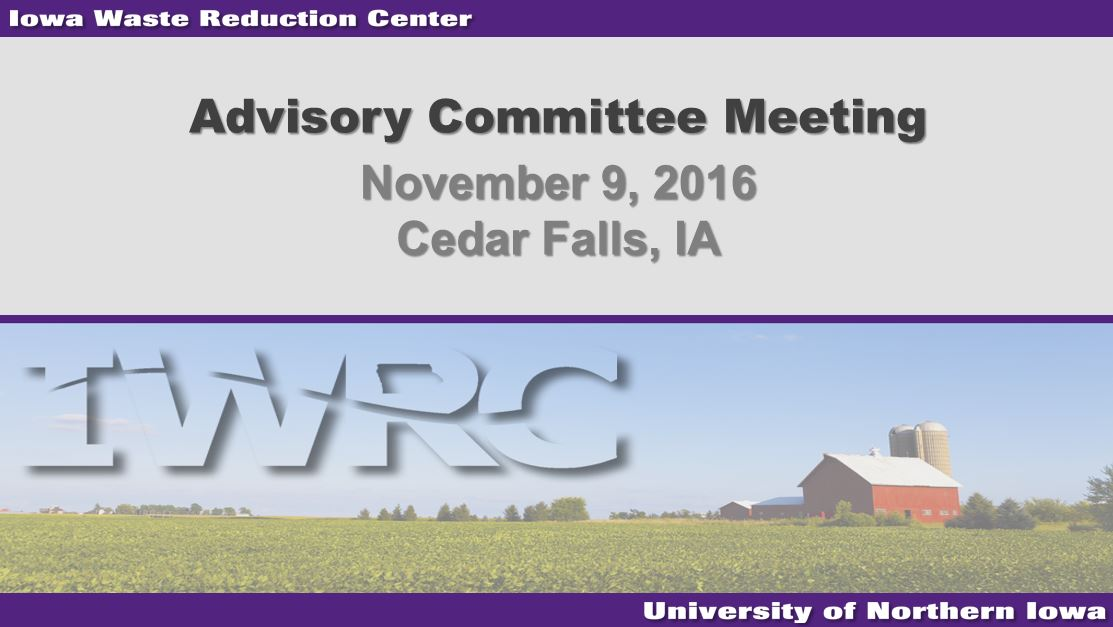 Advisory Committee Meeting Presentation - 2016