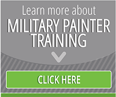 military paint training button