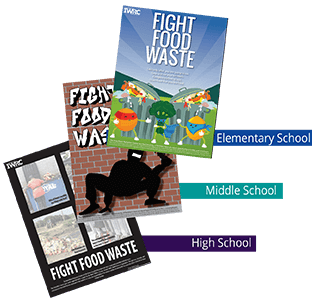 fight food waste school posters