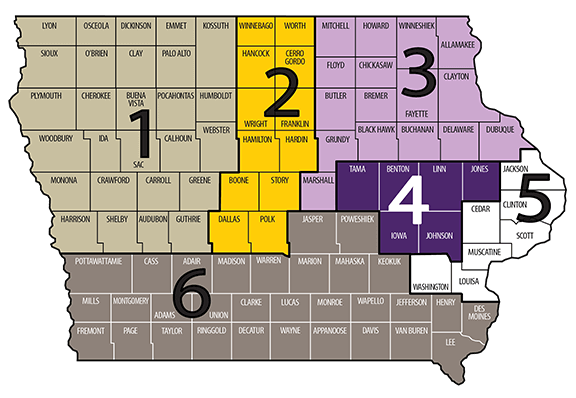 Iowa Waste Exchange specialist map