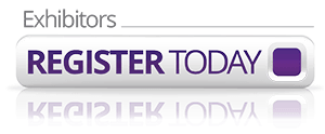 purple button that says exhibitors register today