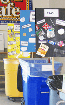 composting efforts at Regina school