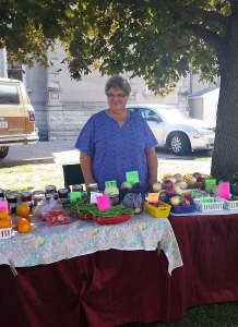 Patsy Boas, Local resident and manager of the Bloomfield Farmers Market