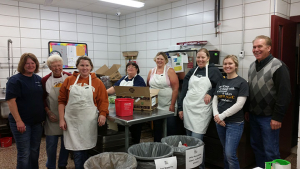 School cafeteria staff from Bloomfield community